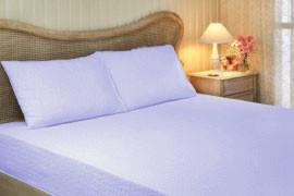 Простынь на резинке Tivolyo Home хлопковая махра (голубой)