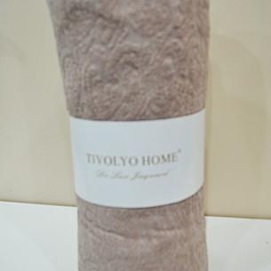 Простынь на резинке с наволочками Tivolyo Home хлопковая махра коричневый 160х200+20