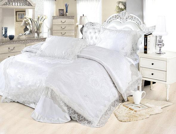 Комплект постельного белья Cristelle BLUE MARINE 33 сатин-жаккард евро, фото, фотография