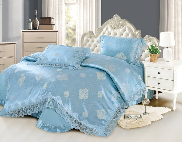 Комплект постельного белья Cristelle BLUE MARINE 34 сатин-жаккард евро, фото, фотография