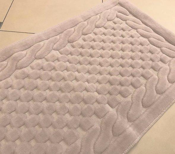 Набор ковриков 2 пр. Gelin Home ERGUVAN хлопковая махра (кофейный) 50*60, 60*100, фото, фотография