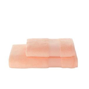 Полотенце для ванной Soft Cotton ELEGANCE хлопковая махра персиковый 85х150