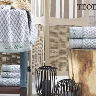 Подарочный набор полотенец для ванной 3 пр. La Villa TEODORA хлопковая махра (зелёный)