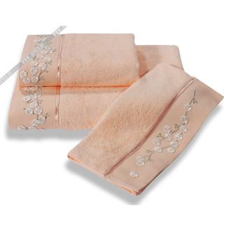 Полотенце для ванной Soft Cotton HAYAL хлопковая махра (персиковый)