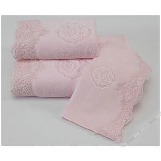 Полотенце для ванной Soft Cotton HAYAL хлопковая махра (розовый)