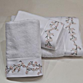 Полотенце для ванной Soft Cotton HAYAL хлопковая махра (белый)