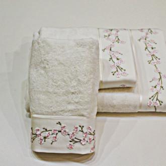 Полотенце для ванной Soft Cotton HAYAL хлопковая махра (экрю)