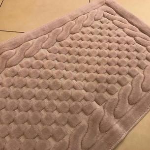 Набор ковриков 2 пр. Gelin Home ERGUVAN хлопковая махра тёмно-коричневый 50х60, 60х100