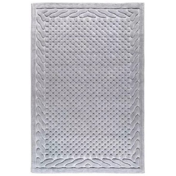 Коврик Gelin Home ERGUVAN хлопковая махра (серый) 60*100, фото, фотография