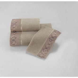 Полотенце для ванной Soft Cotton LALEZAR хлопковая махра (бежевый)