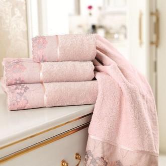 Полотенце для ванной Soft Cotton LALEZAR хлопковая махра (тёмно-розовый)