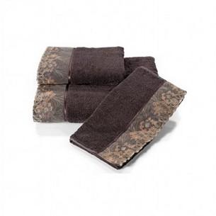 Полотенце для ванной Soft Cotton LALEZAR хлопковая махра фиолетовый 50х100