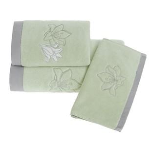 Полотенце для ванной Soft Cotton LILIUM микрокоттон светло-зелёный 85х150