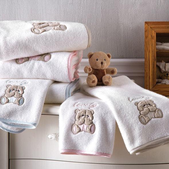 Подарочный набор детских полотенец Tivolyo Home LOVELY хлопковая махра 50*90, 70*130 (розовый), фото, фотография