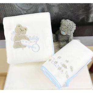 Подарочный набор детских полотенец Tivolyo Home POURTOL хлопковая махра 50х90, 70х130 синий