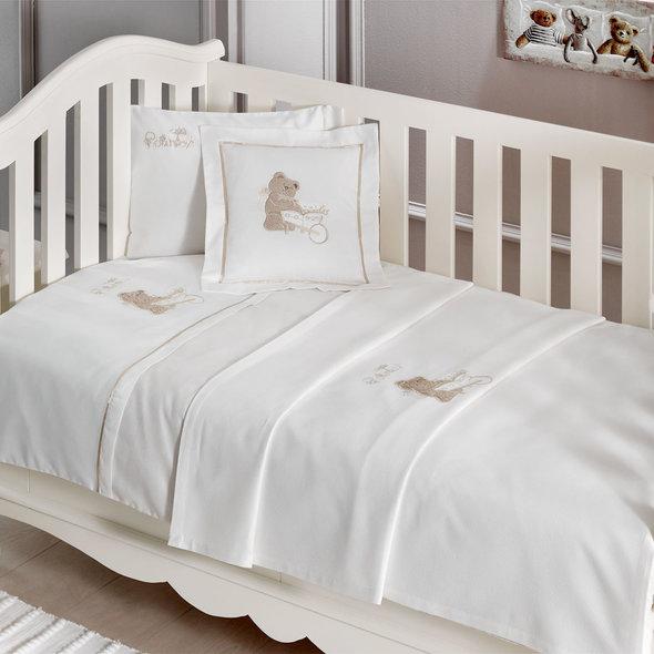 Подарочный набор детских полотенец Tivolyo Home POURTOL хлопковая махра 50*90, 70*130 (бежевый), фото, фотография