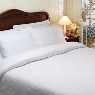Комплект постельного белья Tivolyo Home JAQUARD сатин-жаккард (белый)