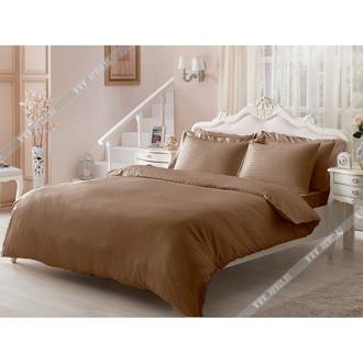 Постельное белье Tivolyo Home JAQUARD сатин-жаккард коричневый