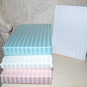 Простынь с наволочками Tivolyo Home JAQUARD страйп-сатин (розовый) 240*260