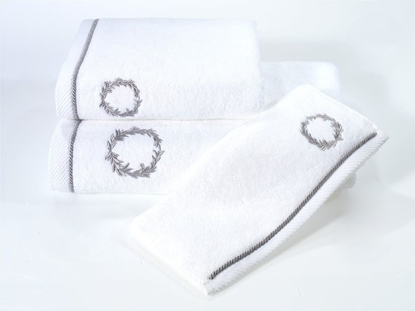 Полотенце для ванной Soft Cotton SEHZADE хлопковая махра (белый) 85*150, фото, фотография