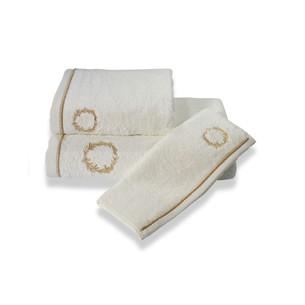 Полотенце для ванной Soft Cotton SEHZADE хлопковая махра кремовый 85х150