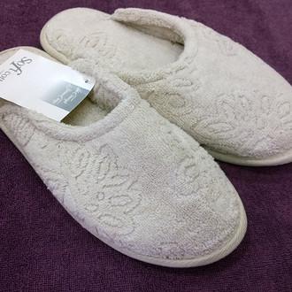 Тапочки женские Soft Cotton LEAF (бежевый)