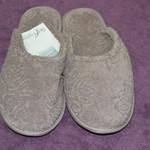 Тапочки женские Soft Cotton LEAF коричневый 40-42, фото, фотография