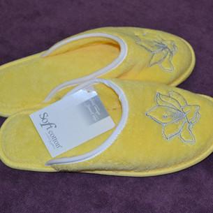 Тапочки женские Soft Cotton LILIUM жёлтый 36