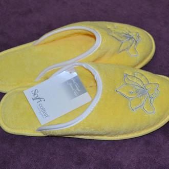 Тапочки женские Soft Cotton LILIUM (жёлтый)