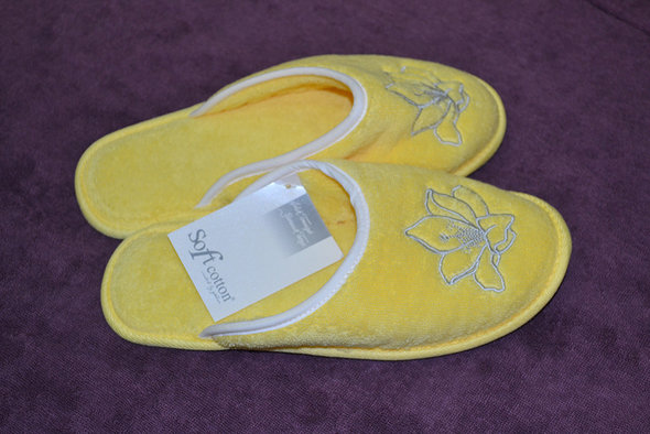 Тапочки женские Soft Cotton LILIUM (жёлтый) 36, фото, фотография
