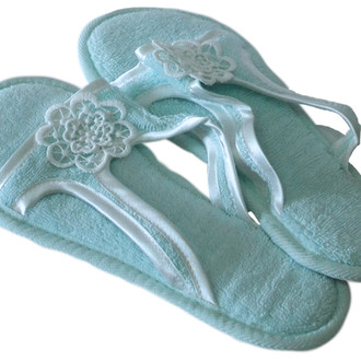 Тапочки женские Soft Cotton NIL (бирюзовый)