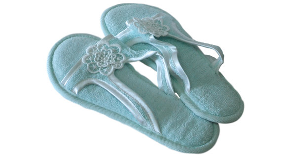 Тапочки женские Soft Cotton NIL (бирюзовый) 38-40, фото, фотография