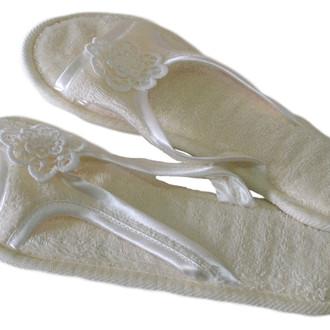 Тапочки женские Soft Cotton NIL (кремовый)
