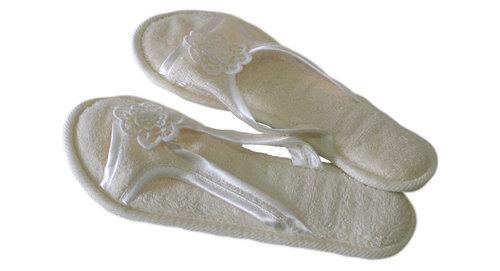 Тапочки женские Soft Cotton NIL кремовый 40-42, фото, фотография