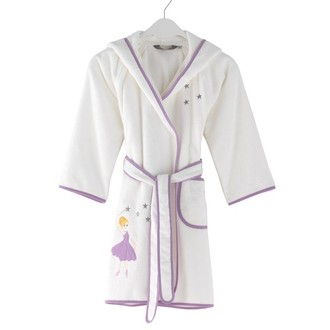 Халат детский для девочки Soft Cotton BALERINA хлопковая махра (лиловый)