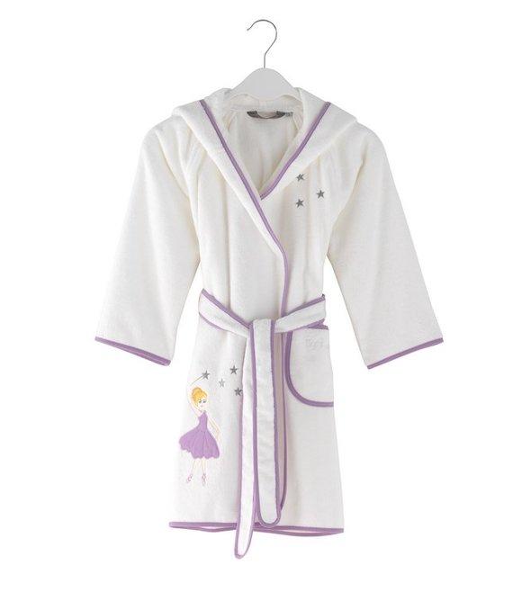 Халат детский для девочки Soft Cotton BALERINA хлопковая махра (лиловый) 4 года, фото, фотография
