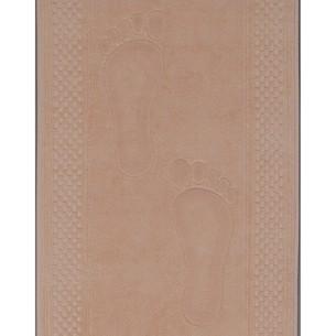 Коврик Soft Cotton STEP хлопковая махра персиковый 50х90