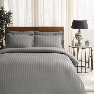 Комплект постельного белья TAC LUX NOBLE хлопковый сатин-жаккард делюкс (серый)