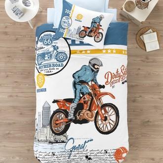 Комплект детского постельного белья Cotton Box GIRLS & BOYS CROSS хлопковый ранфорс (голубой)