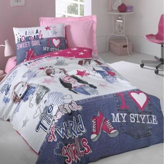 Комплект детского постельного белья Cotton Box GIRLS & BOYS FASHION GIRLS хлопковый ранфорс (фуксия)