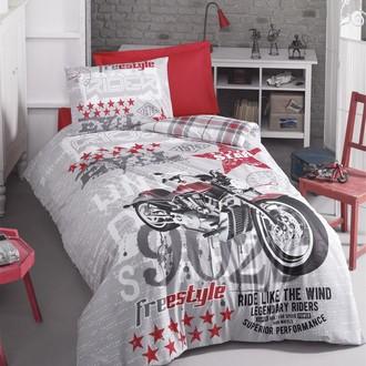 Комплект детского постельного белья Cotton Box GIRLS & BOYS FREESTYLE хлопковый ранфорс (серый)