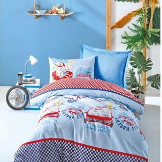 Комплект детского постельного белья Cotton Box GIRLS & BOYS CAR RACE хлопковый ранфорс (голубой)