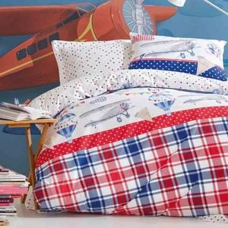 Комплект детского постельного белья Cotton Box GIRLS & BOYS AIR BALLOON хлопковый ранфорс (красный)
