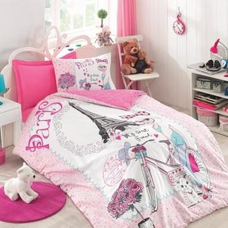 Комплект детского постельного белья Cotton Box GIRLS & BOYS BEST FRIEND хлопковый ранфорс (розовый)