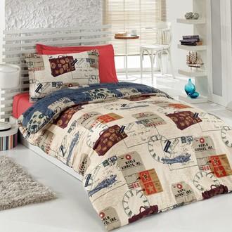 Комплект подросткового постельного белья Cotton Box GIRLS & BOYS TRAVEL хлопковый ранфорс