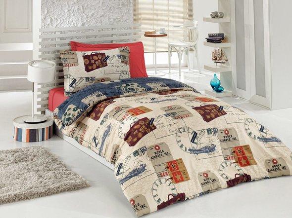 Комплект подросткового постельного белья Cotton Box GIRLS & BOYS TRAVEL хлопковый ранфорс 1,5 спальный, фото, фотография