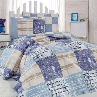 Комплект подросткового постельного белья Cotton Box GIRLS & BOYS PRIVATE хлопковый ранфорс (голубой)