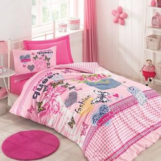 Комплект подросткового постельного белья Cotton Box GIRLS & BOYS QUEEN хлопковый ранфорс (розовый)