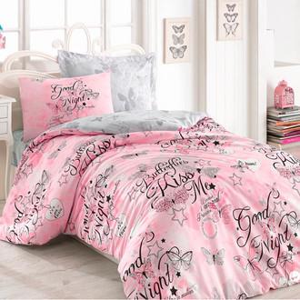 Комплект подросткового постельного белья Cotton Box GIRLS & BOYS FEELING хлопковый ранфорс (розовый)