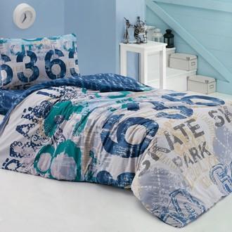 Комплект подросткового постельного белья Cotton Box GIRLS & BOYS URBAN хлопковый ранфорс (голубой)